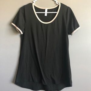 Lularoe • Black/Tan trim Perfect Tee